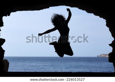 young free climber reaches summit scottish stock photo