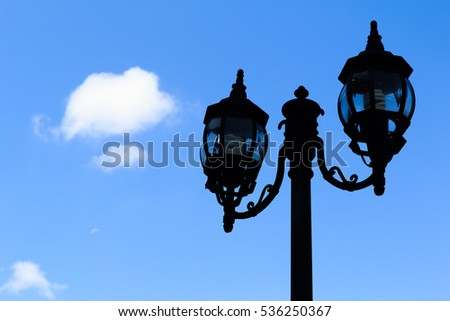 Silhouette of Electric L& Post with Blue Sky & Street Light Blue Sky Stock Photo 1396965 - Shutterstock azcodes.com