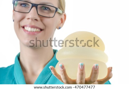 silicone breast prothesis A breast implant is a prosthesis used to change the size, shape, and contour of a woman's breast in reconstructive plastic surgery, breast implants can be placed.