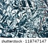 silver foil texture, holiday background - stock photo