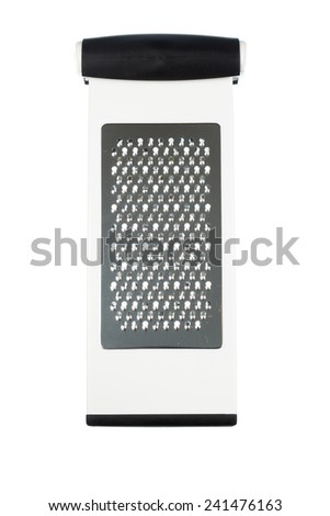 Silver metallic cheese grater isolated on white background