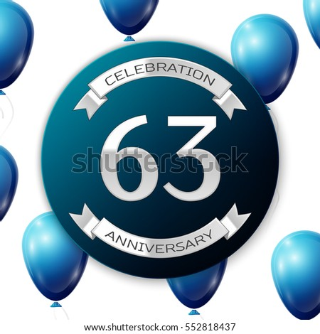 sixty three years anniversary celebration silver stock vector 581874229 shutterstock. Black Bedroom Furniture Sets. Home Design Ideas
