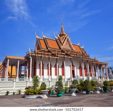 Silver Pagoda in Phnom Penh, Cambodia. It was known as Wat Ubosoth Ratanaram. The temple's official name is Preah Vihear Preah Keo Morakot which is commonly shortened to Wat Preah Keo in Khmer.