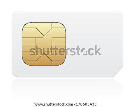 sim card illustration isolated on white background