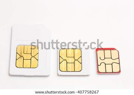 sim card put on white background