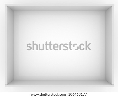 Simple box for mailing letters with one big cell isolated on white