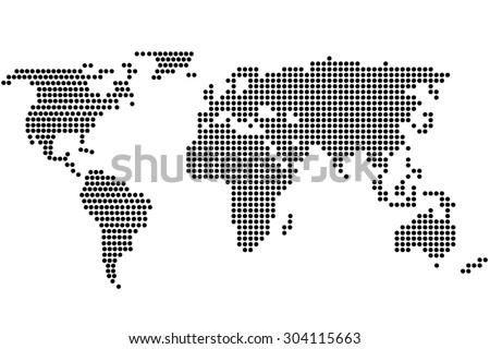 World map dots random size black vectores en stock 266933156 simple digital world map of dots gumiabroncs Images