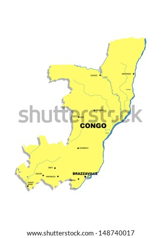 Simple map of Congo