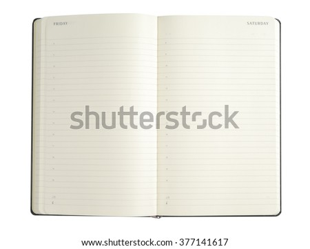Simple notepad with clipping path isolated on white background