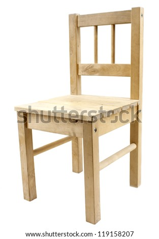 Simple Wooden Chair Simple wooden chair isolated