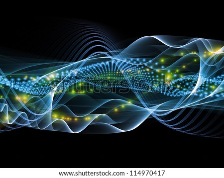 Sine waves background suitable as a backdrop for projects on technology, entertainment, communications, sound and audio
