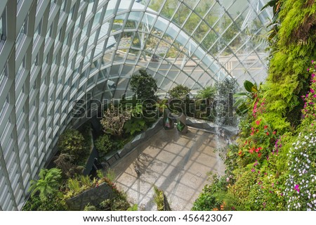 Garden By The Bay August 2017 singapore january 7 2017 inside cloud stock photo 562465414