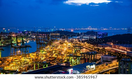 SINGAPORE - February 21st, 2016: The Port of Singapore is the one of the busiest container terminal in the world.