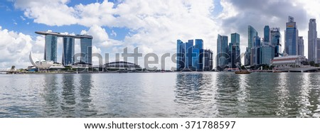 SINGAPORE- JAN 24: City life after New Year in 2016 on January 24, 2016 in Singapore