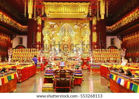 singapore -JUNE 19, 2014: Buddha Tooth Relic Temple, Singapore.