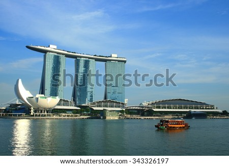 Singapore Landmark at Marina Bay