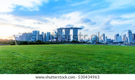 SINGAPORE - NOVEMBER 24, 2016: The Marina Barrage not only supplies water to Singaporeans and helps alleviate floods, but also doubles up as a place for family fun.