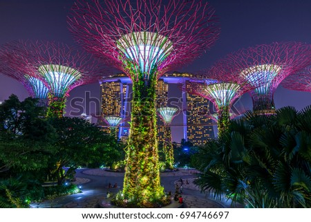 singapore singapore august 12 2017 supertrees grove in gardens by the bay - Garden By The Bay Music