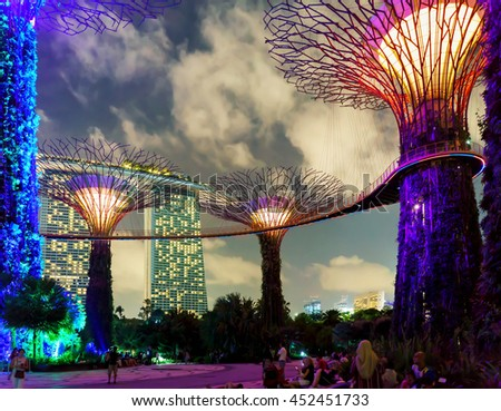 singapore singapore march 2 2016 supertrees grove in gardens by the bay - Garden By The Bay Music