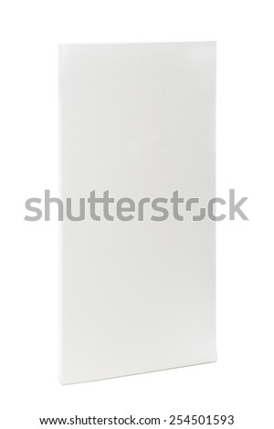 Single styrofoam panel isolated over white background, vertical shoot