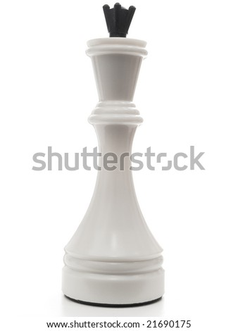 single white king in chess against the white background