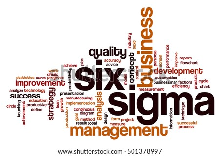 Six sigma word cloud concept
