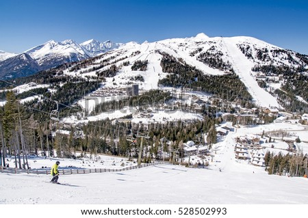 Ski slopes in Austria, Katschberg resort