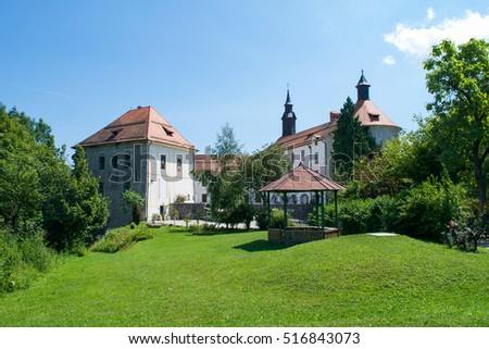 Skofja Loka Castle and its grounds in Slovenia