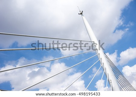 Sky and detail from bridge