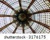 Skylight in Galleries Lafayette, Paris - stock photo