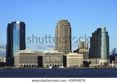 Skyline for Exchange Place in New Jersey