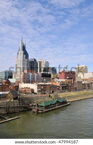 skyline view of downtown Nashsville, Tennessee