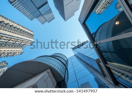 Skyscrapers from a low angle view in Shenzhen,China.