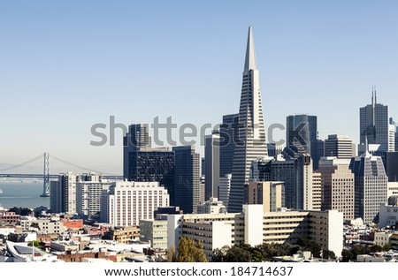 Skyscrapers in San Francisco, California