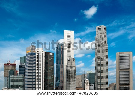 Skyscrapers of Singapore in day