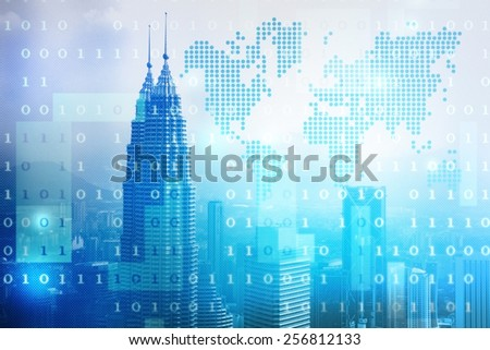 skyscrapers skyline business background illustration