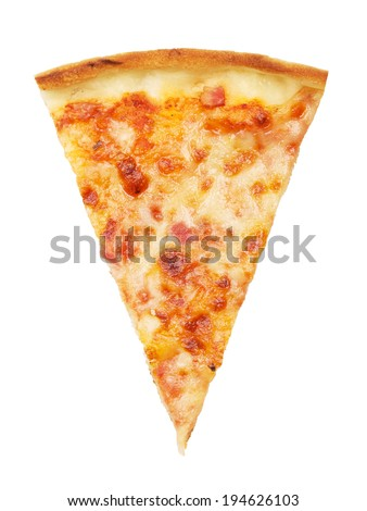 slice of delicious italian pizza, isolated on white
