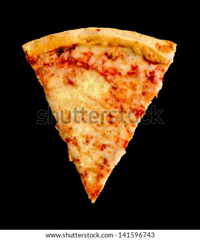 Slice of Pizza with Black Background