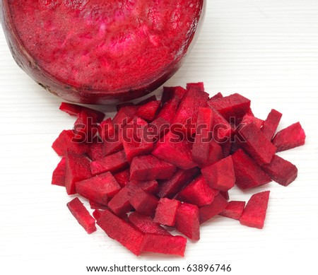 sliced red beets