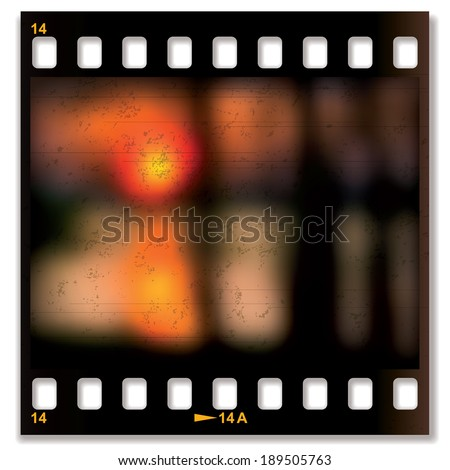 Slide film background with image of the sunset