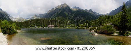 Slovakia beauty, High Tatras with Popradske lake