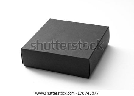 Small black box isolated on white