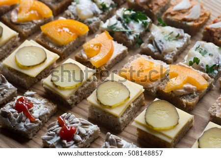 Vegetables fruits composition on wooden table stock photo for How to make canape shells at home