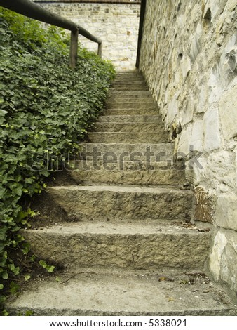Small old stone stairs