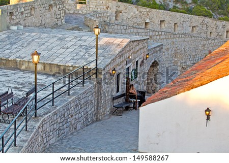 Small Old Street. Hvar. Croatia. High quality stock photo.