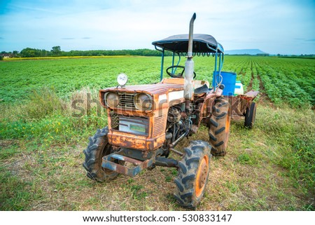 Small scale tractor in Sunflower Farm