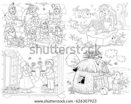 Vector Illustration Zentangl Girl Woman Artist Stock