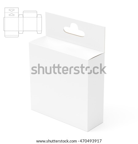 Small Shelf Retail Box with Blueprint 3D Rendering