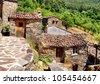 Small typical mountain village of schist in Lousa, Portugal - stock photo