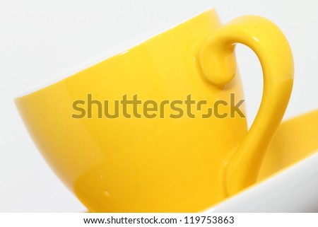 small yellow cup